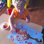 Fall Craft: Arm Tree with Fingerprint Leaves