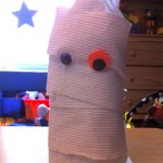 Halloween Craft: Bottle Mummy
