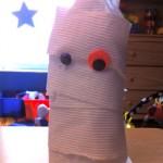 Halloween Craft: Bottle Mummy