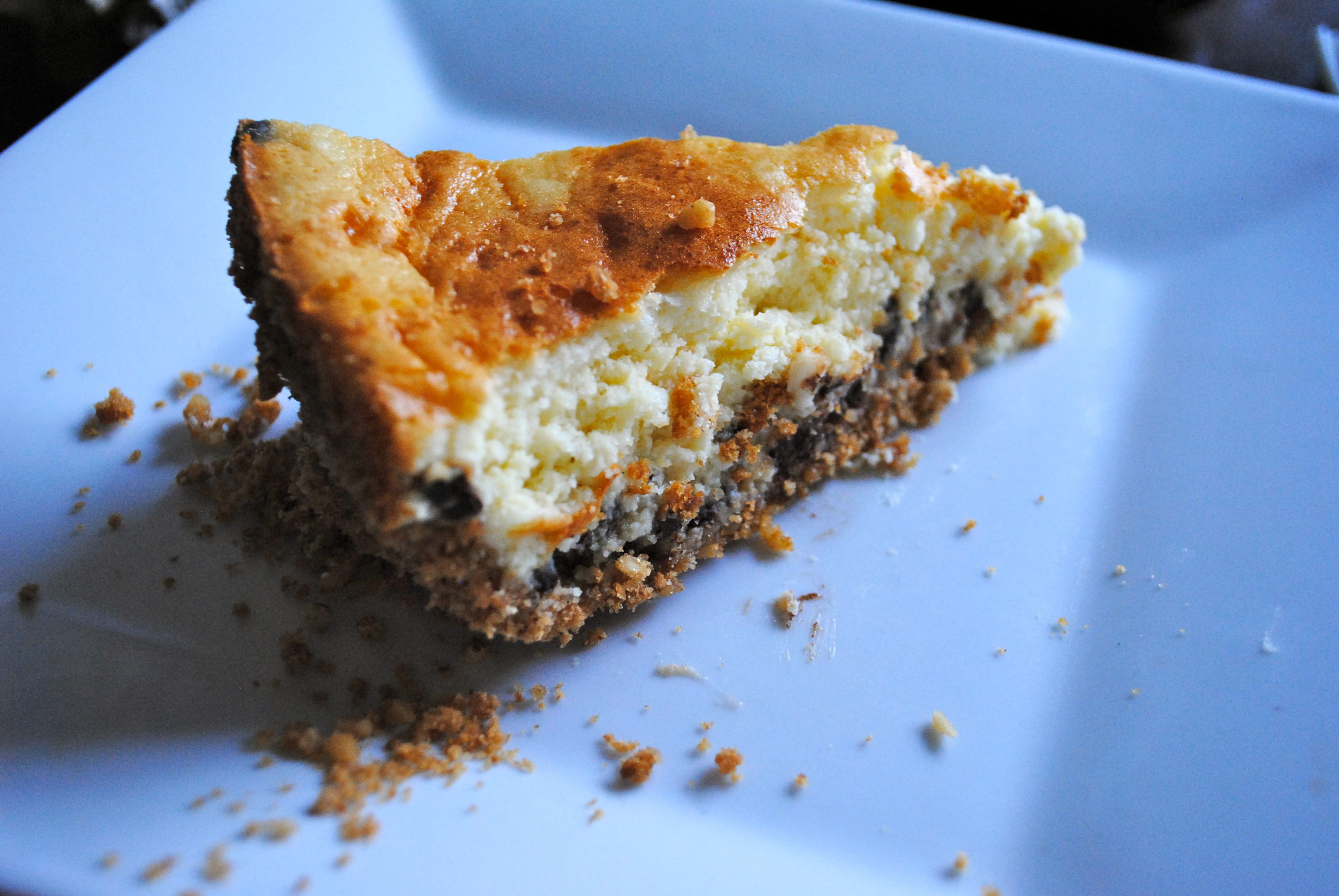 Toaster Oven Chocolate Chip Cheesecake