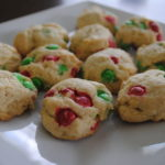 M & M Cream Cheese Cookies