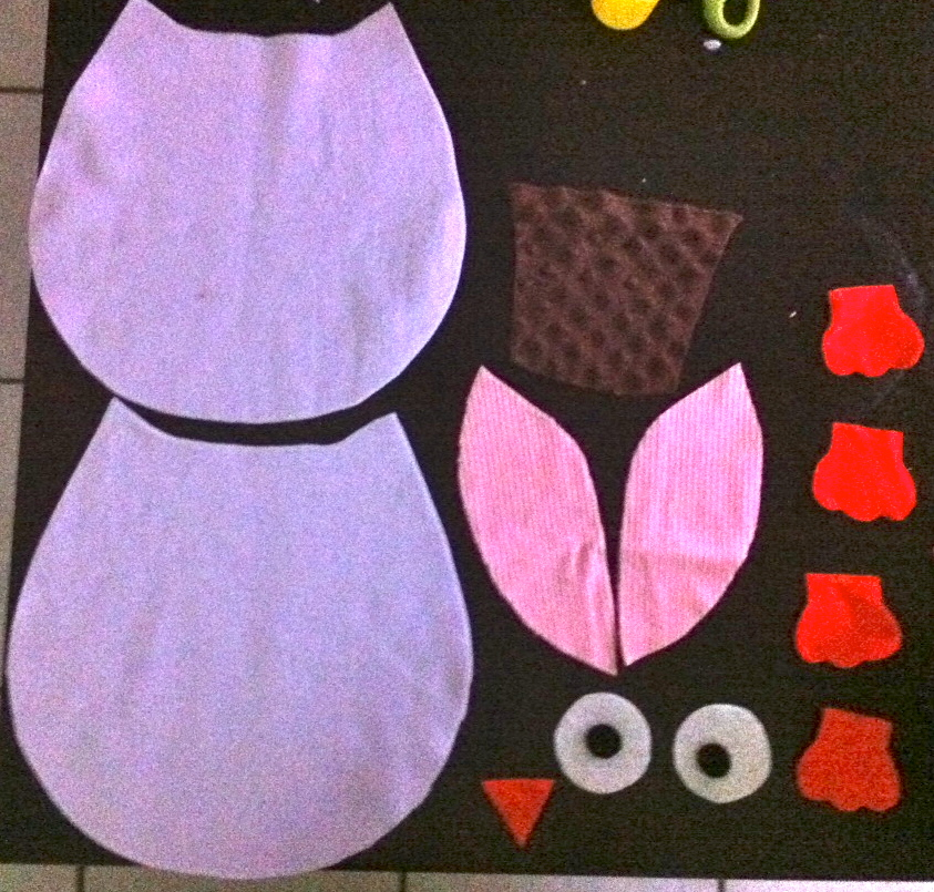 Owl Pillow Sewing Pattern Images - origami instructions easy for kids