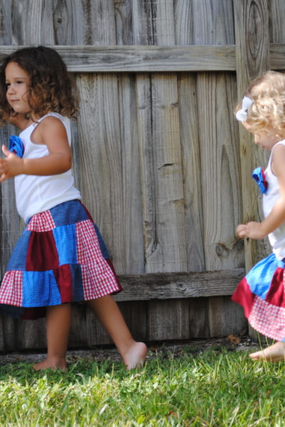 4th of July Patchwork Skirts Tutorial