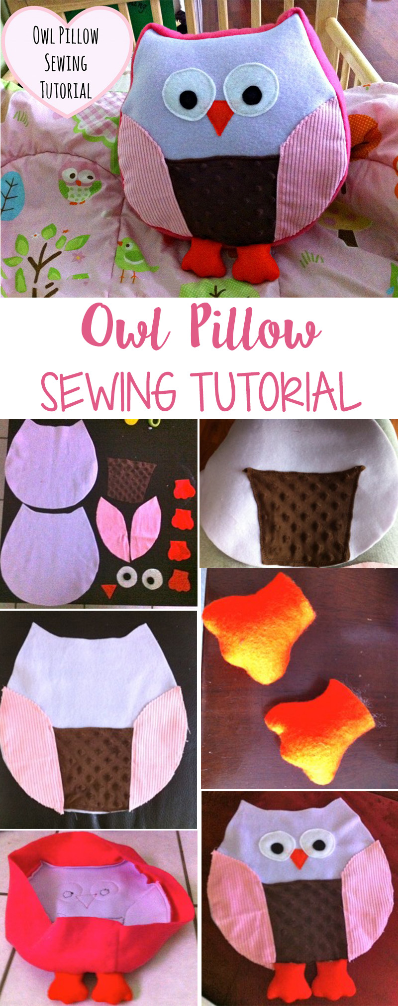 Owl Pillow Sewing Tutorial