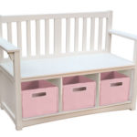 Guidecraft Classic White Storage Bench