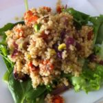 Sauteed Carrot & Onion Quinoa Salad