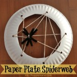 Halloween Craft: Preschool Sewing Spiderweb