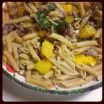 Whole Wheat Penne with Pumpkin, Sausage, and Chard