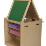Guidecraft Desk to Easel Art Cart