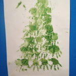 Handprint Christmas Tree #WordlessWednesday
