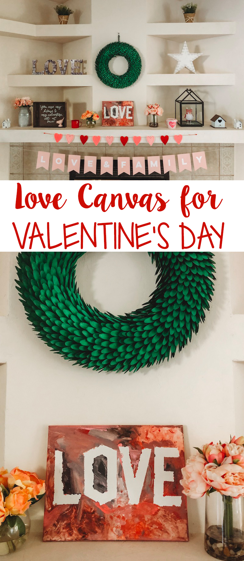 Love Canvas Craft for Valentine's Day