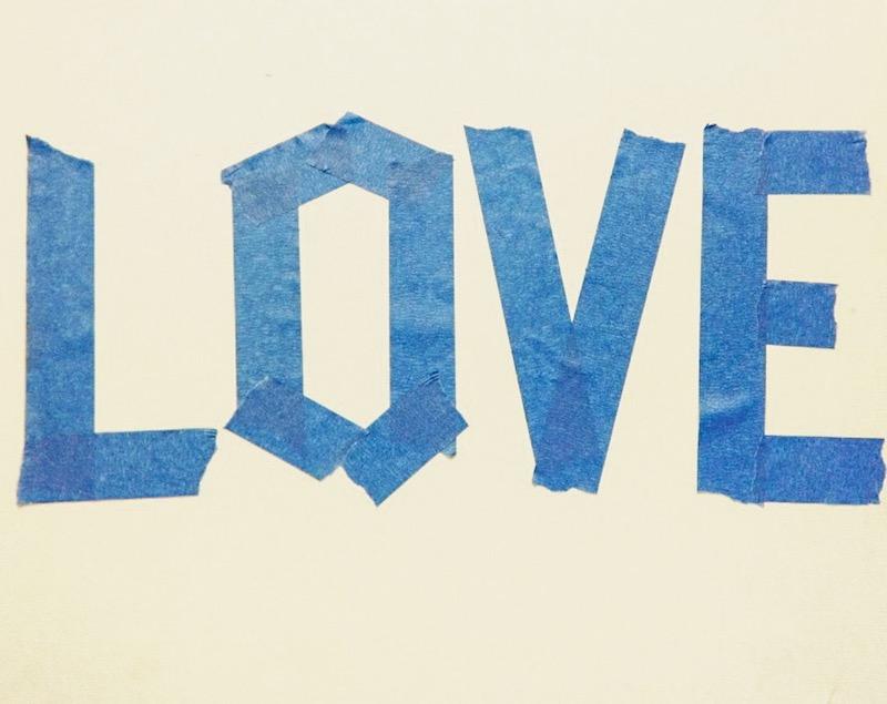 Love Canvas Tape
