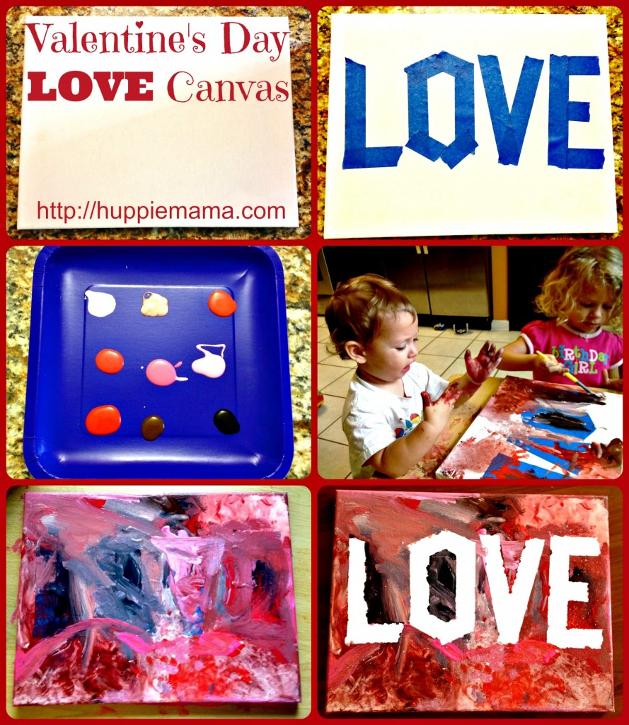 Step-by-step Valentine's Day Love Canvas