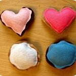 Valentine's Day Craft: Felt Cookies