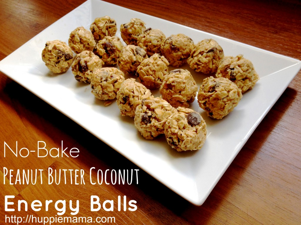 No-Bake Peanut Butter Coconut Energy Balls
