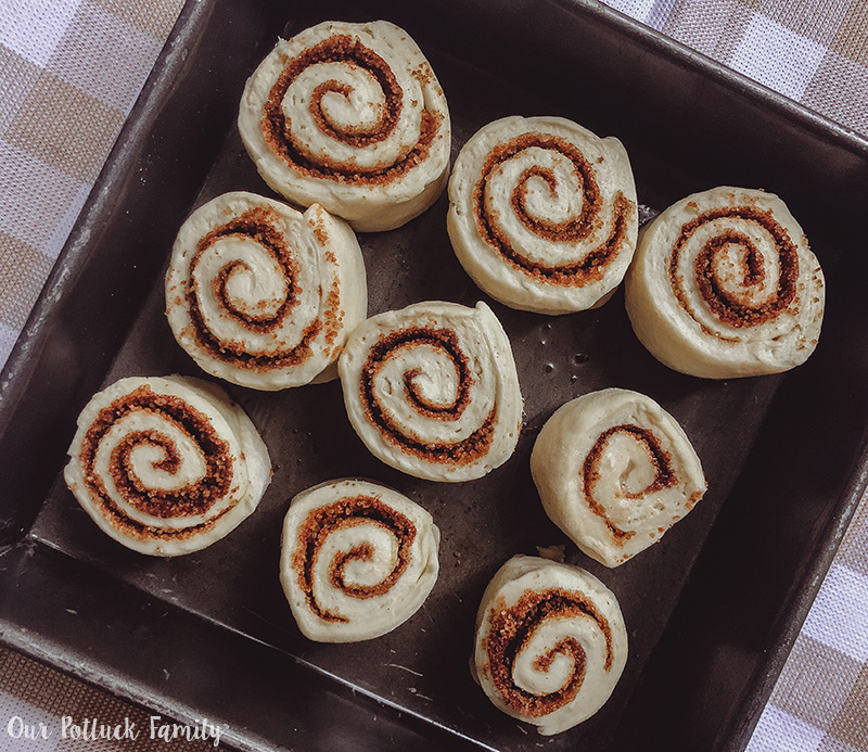 Sourdough Cinnamon Roll sliced
