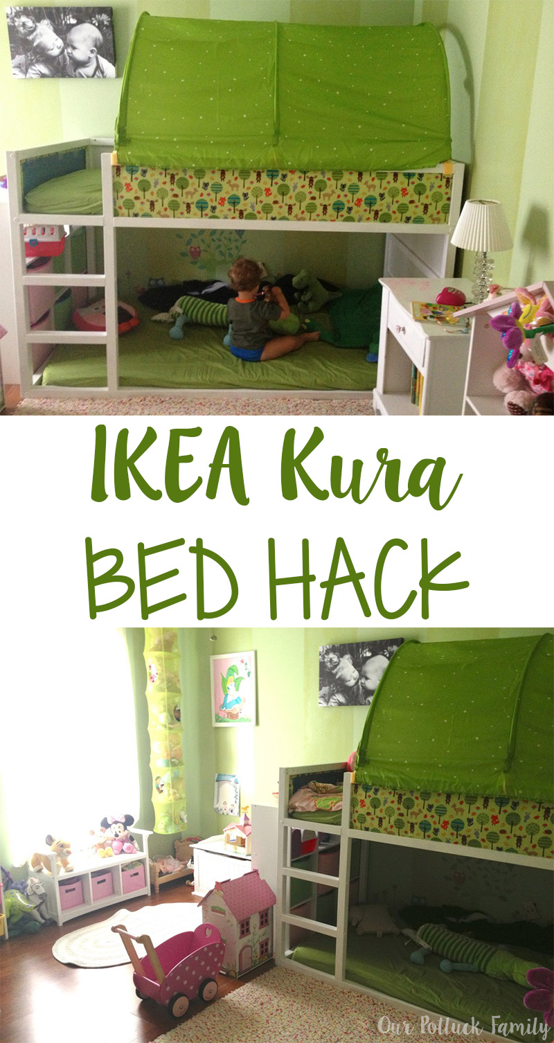ikea kura bed hack garden themed bedroom huppie mama. Black Bedroom Furniture Sets. Home Design Ideas
