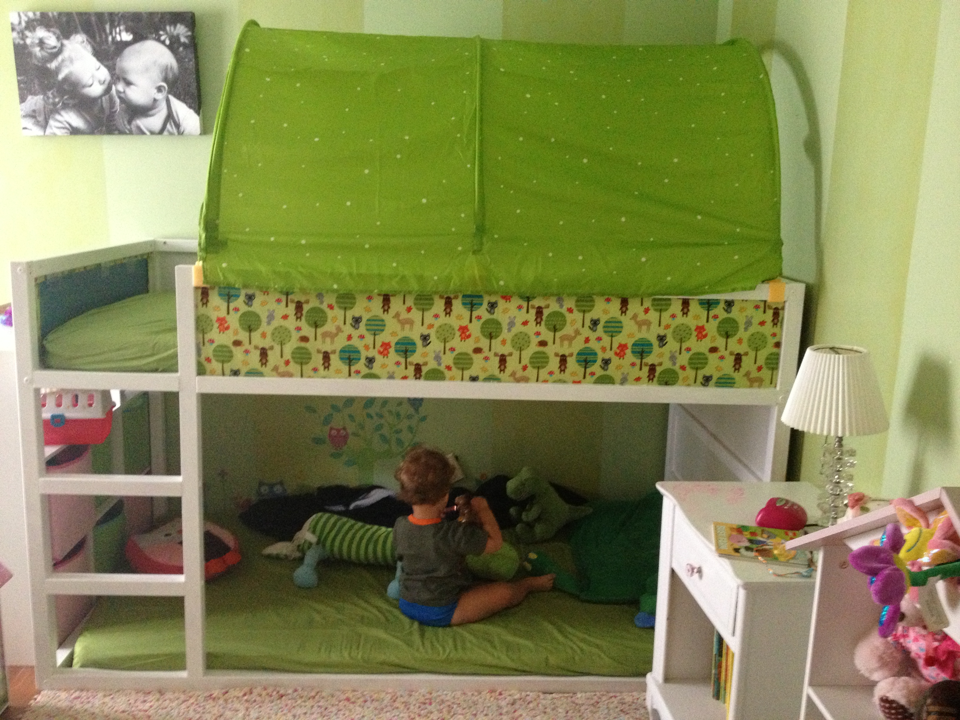 Ikea Kura Bed Hack Garden Themed Bedroom Huppie Mama