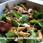 Steak, Penne, and Super Greens Salad