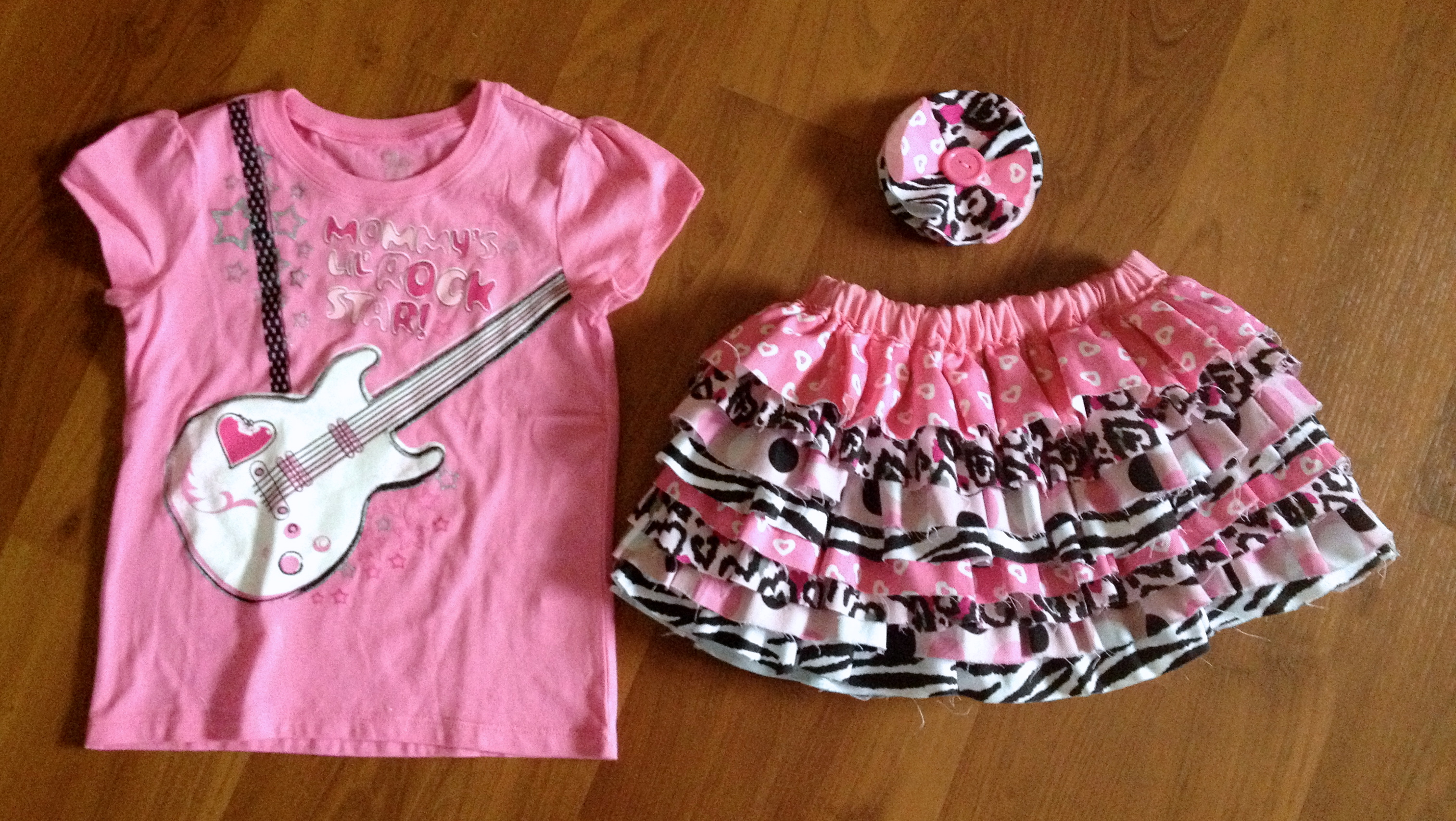 Pink Rocker Girl Outfit Sewing Tutorial