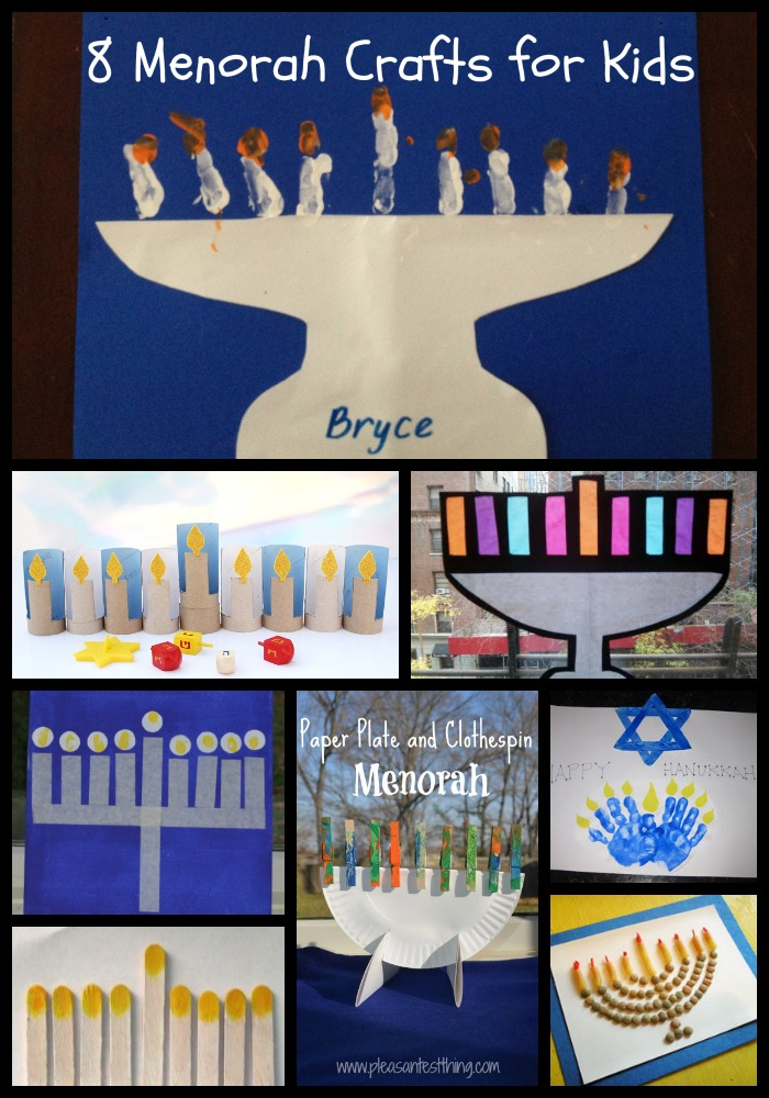 8 Menorah Crafts for Kids