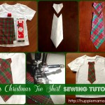 Boys Christmas Tie Shirt Sewing Tutorial