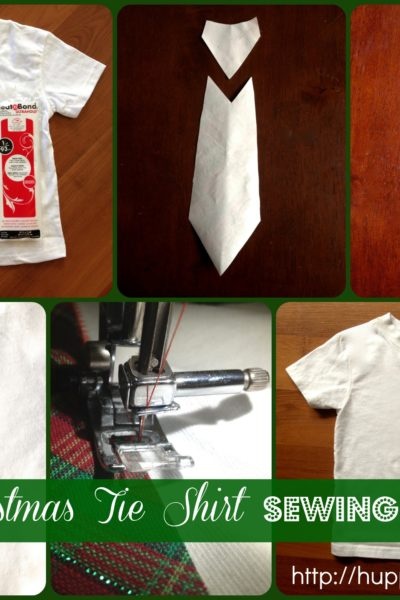 Boys Christmas Tie Shirt Sewing Tutorial