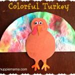 Colorful Turkey Thanksgiving Craft