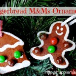 Christmas Craft: Gingerbread M&Ms Ornaments