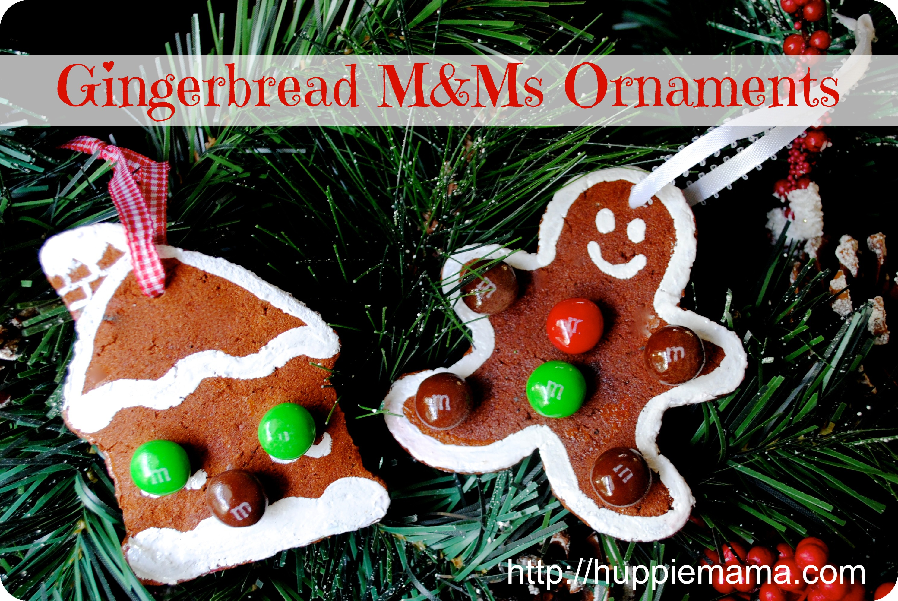 christmas craft gingerbread m ms ornaments our potluck. Black Bedroom Furniture Sets. Home Design Ideas