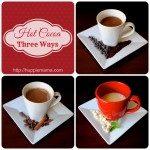 Hot Cocoa Three Ways: Peppermint White, Spiced Milk, & Espresso Dark Chocolate