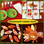 Thanksgiving Fingerpaint Turkey Craft