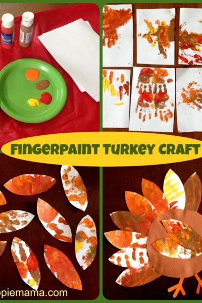 Thanksgiving Fingerpaint Turkey Craft
