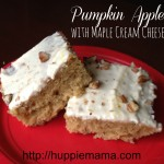 Pumpkin Apple Bars with Maple Cream Cheese Frosting