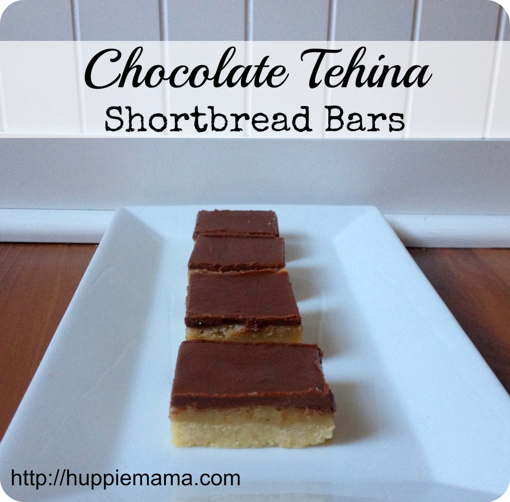Chocolate Tehina Shortbread Bars 1