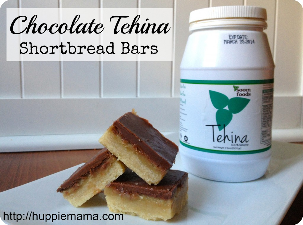Chocolate Tehina Shortbread Bars 3
