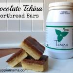 Chocolate Tehina Shortbread Bars