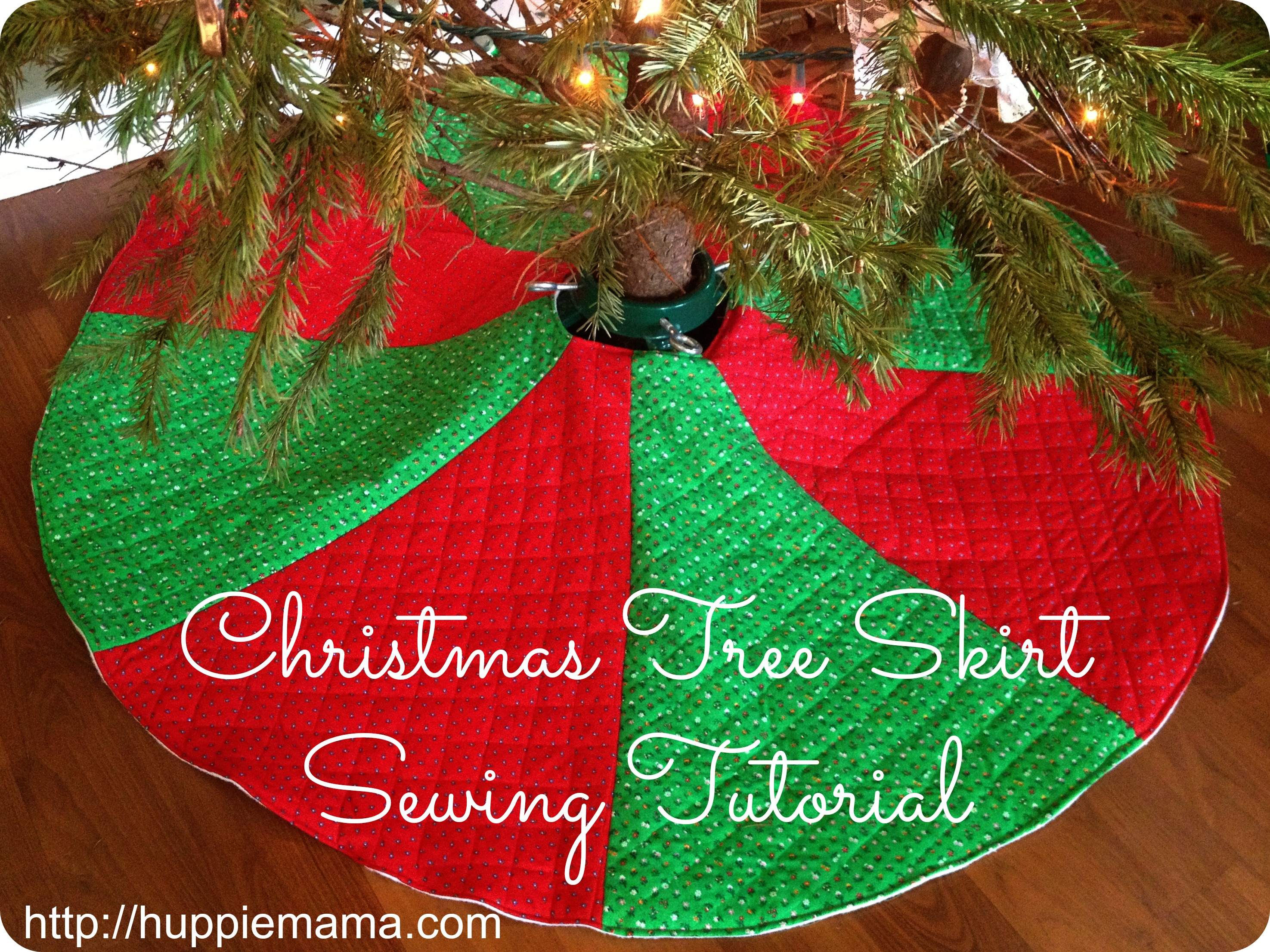 Christmas Tree Skirt Sewing Tutorial Our Potluck Family