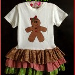 Gingerbread Girl Ruffle Dress Sewing Tutorial