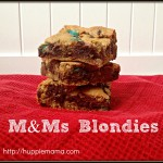 M&Ms Blondies Recipe & Pinterest Contest #BakingIdeas