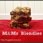 M&Ms Blondies Recipe