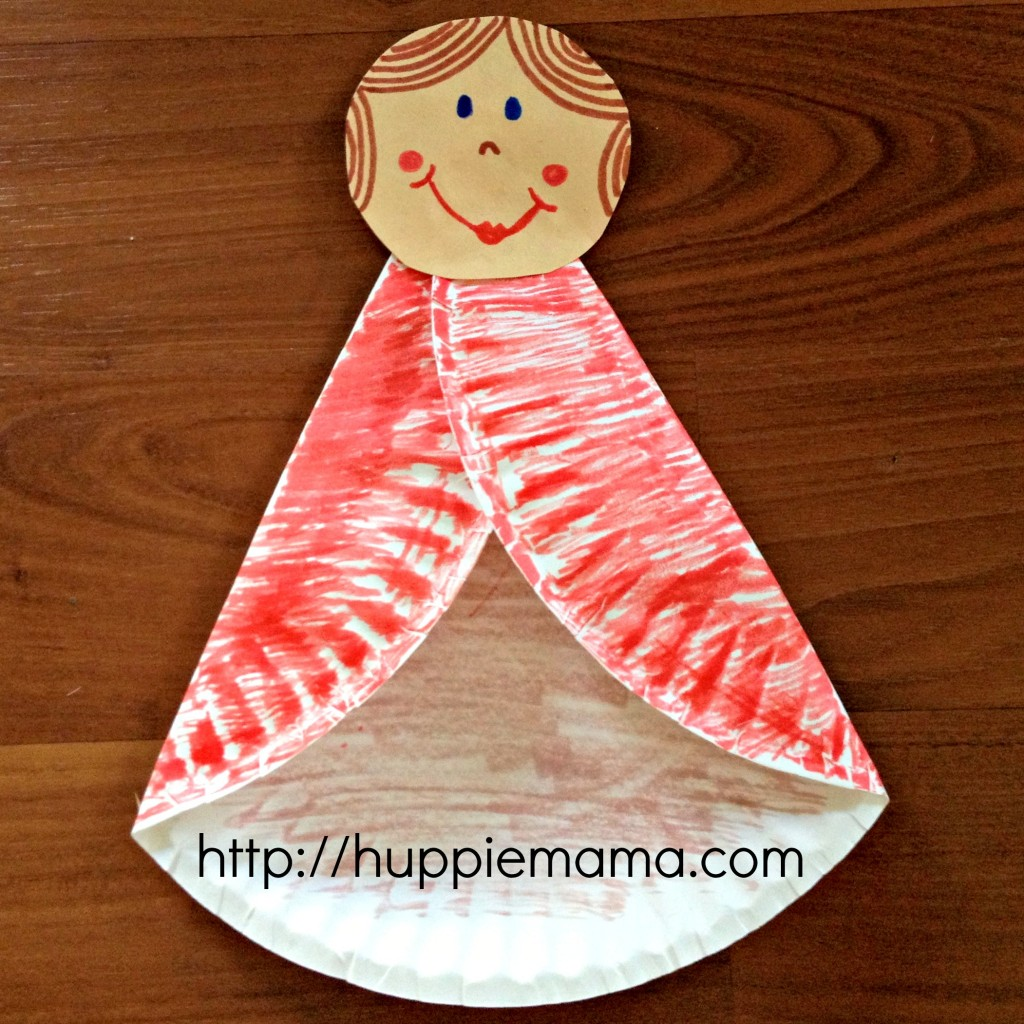 Paper Plate Angel step 3