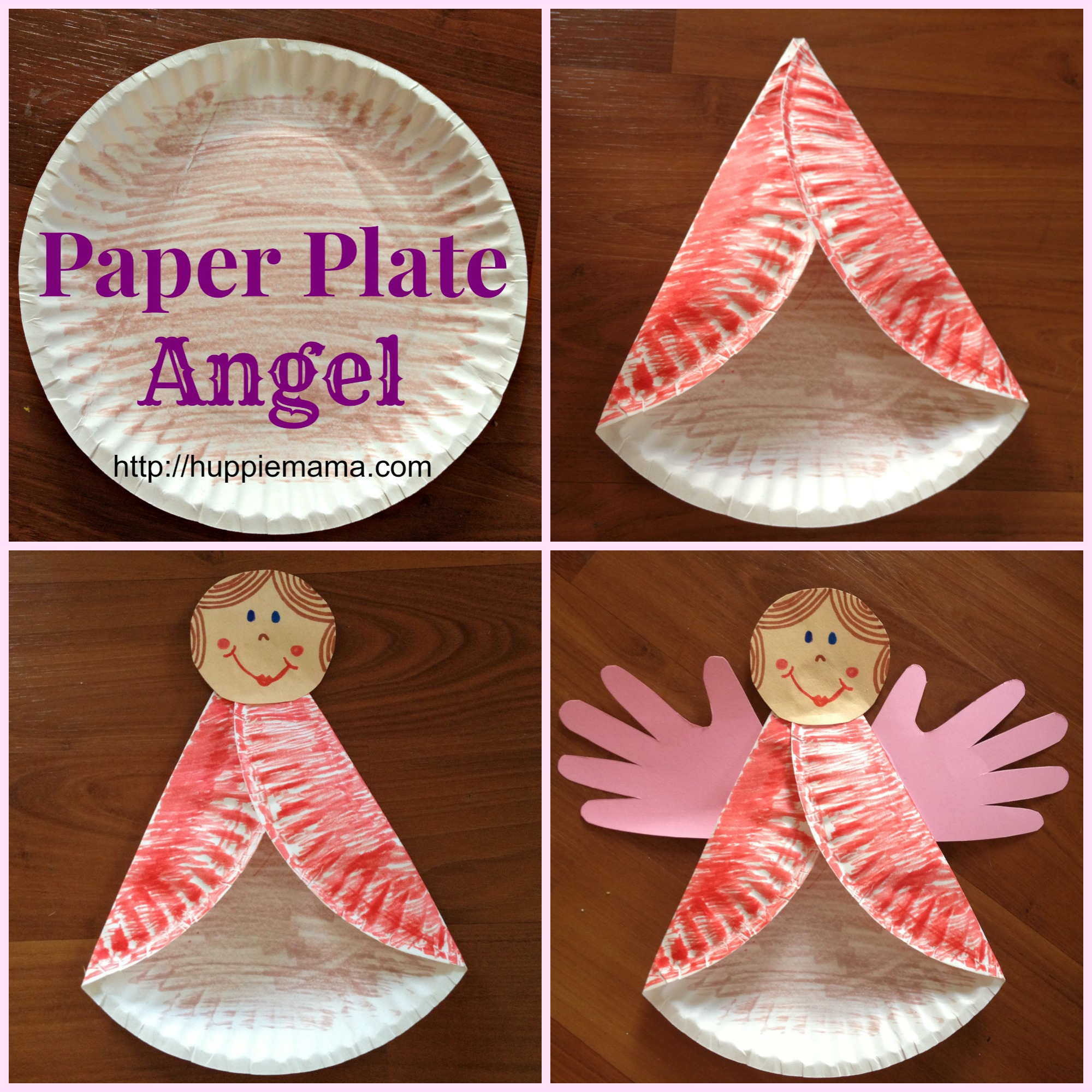 & Christmas Kids Craft: Paper Plate Angel - Our Potluck Family