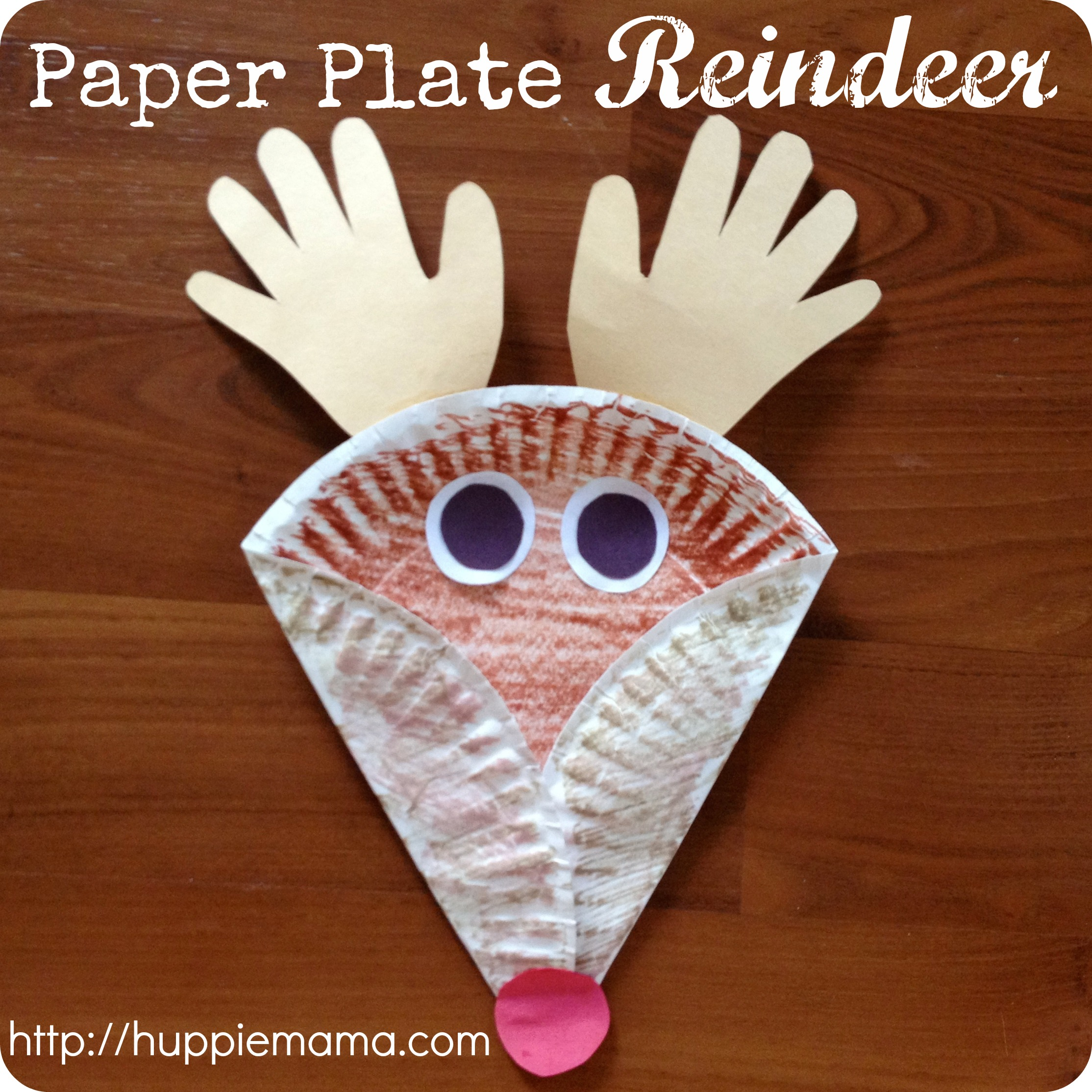 Paper plate reindeer step 4 carrie rose for Reindeer project