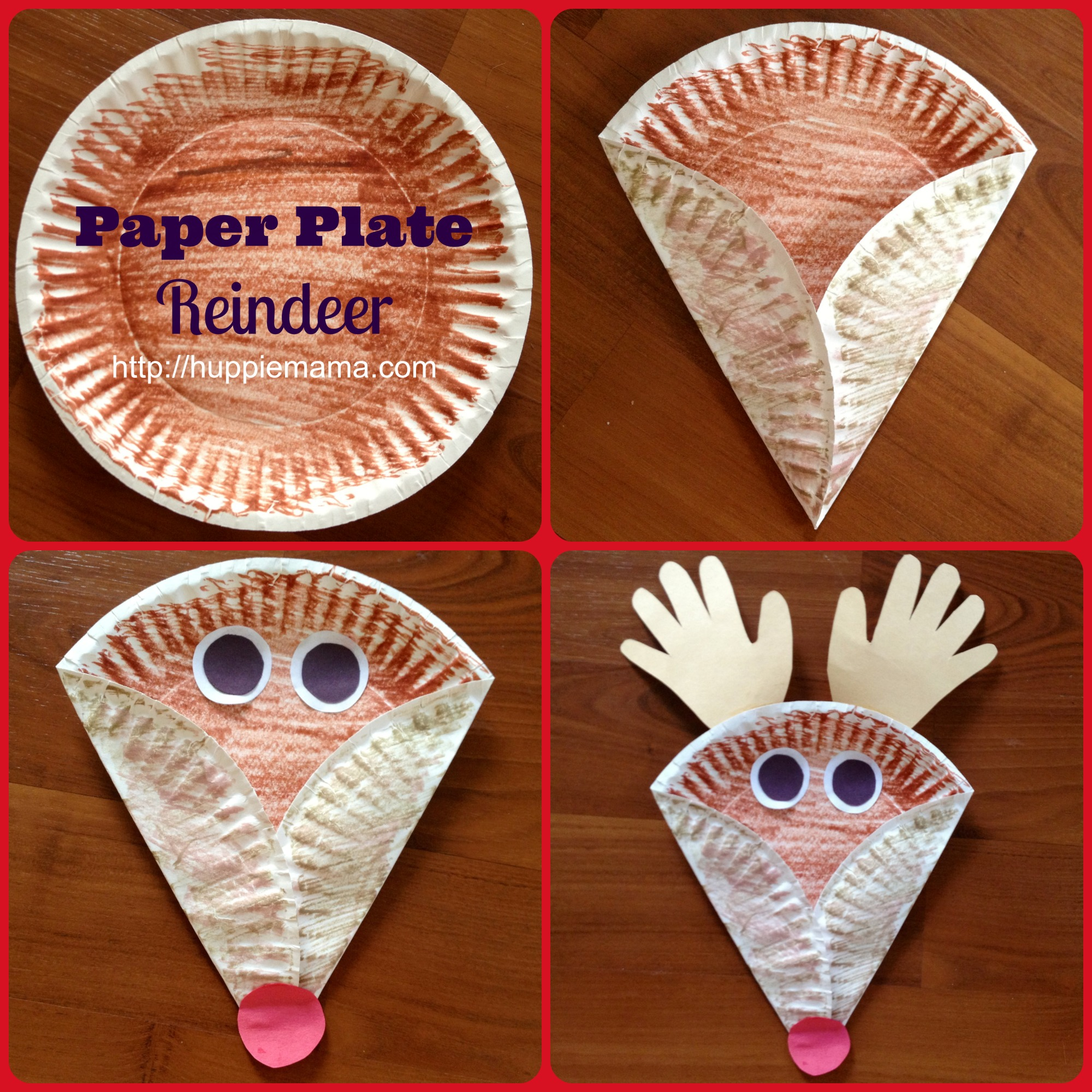 & Christmas Kids Craft: Paper Plate Reindeer - Our Potluck Family