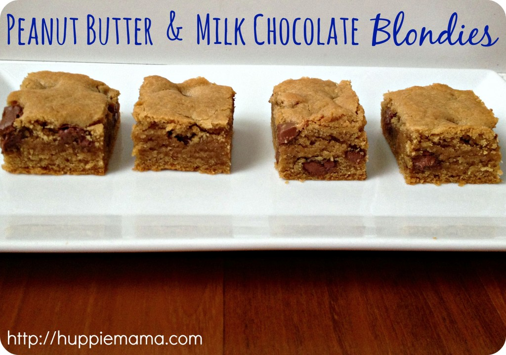 Peanut Butter & Milk Chocolate Blondies