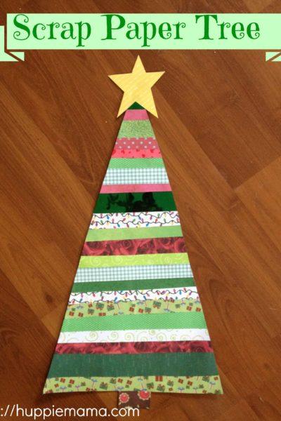 Christmas Craft: Scrap Paper Tree
