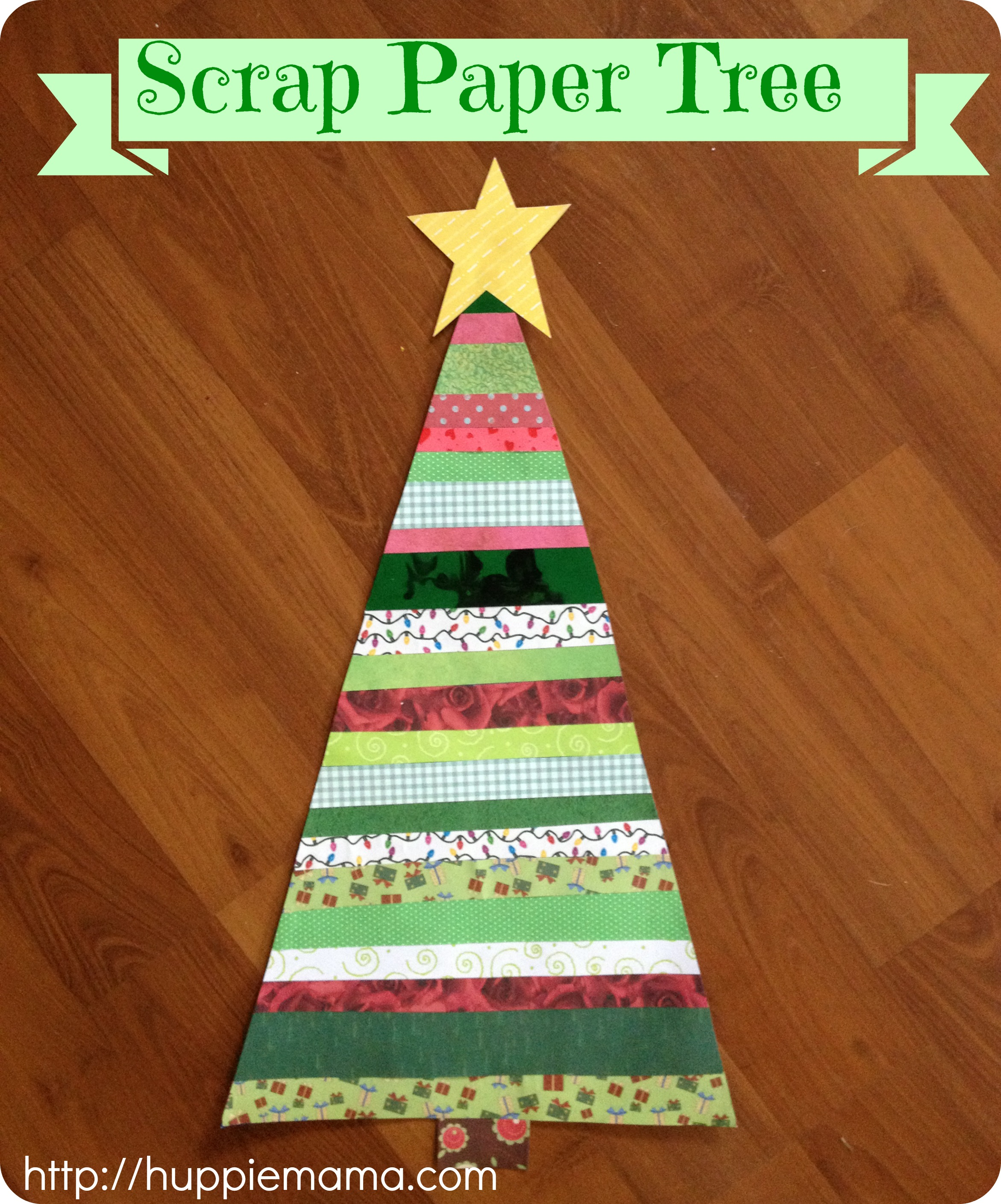 Christmas Craft: Scrap Paper Tree