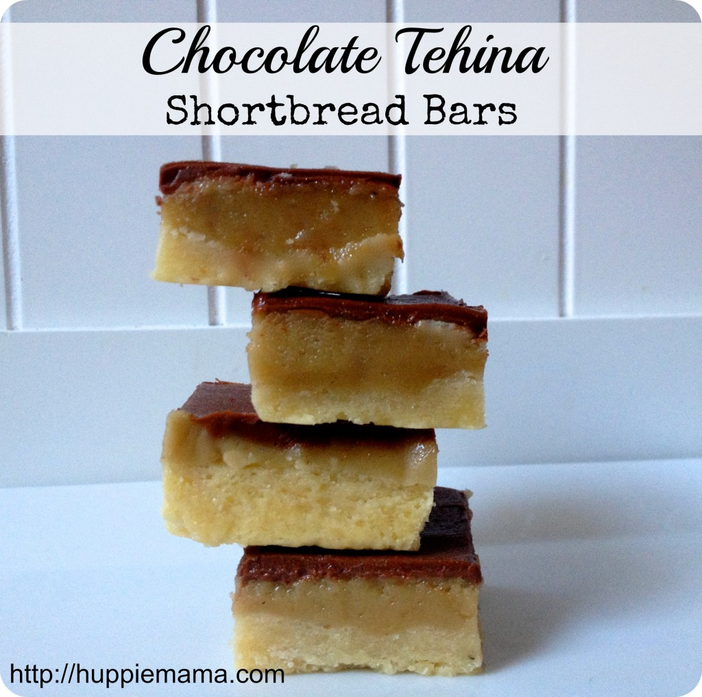 chocolate tehina shortbread bars 2