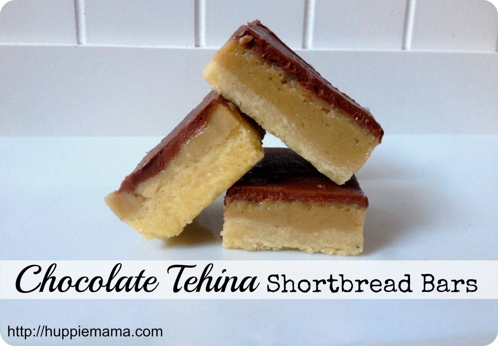 chocolate tehina shortbread bars 4